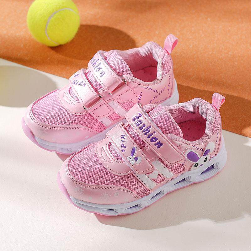 0e4e1173aba3f Girls Athletic Shoes Children's Shoes 2019 Spring And Autumn New Style  Breathable Running Shoes Spring And Autumn Mesh Casual Shoes Korean Style