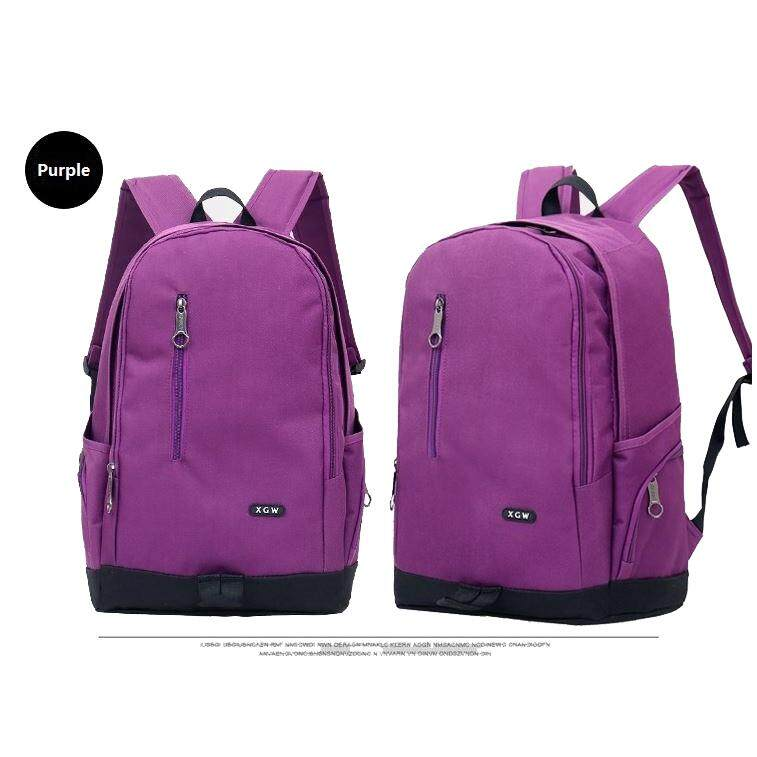"(Purple)15"" XGW Fashion Casual Travel Sport School Gym Nylon Backpack Laptop Bag"