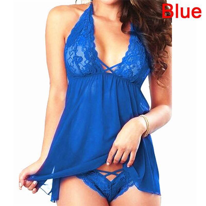 c7d6b658656 Lingerie Lace Dress Babydoll Women s Underwear Nightwear Plus Size - intl