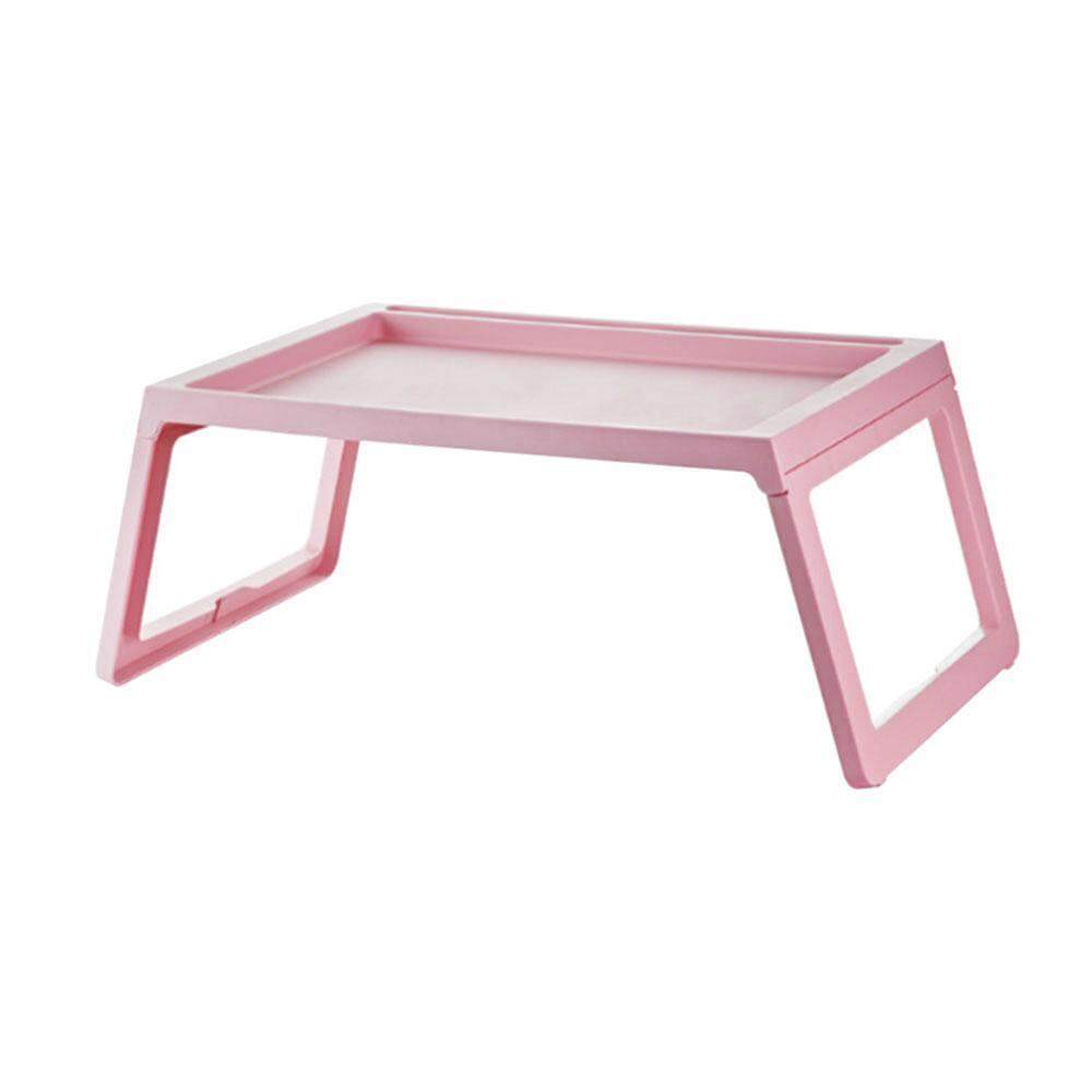 leegoal Foldable Computer Table Lazy Table, Laptop Stand Creative Simplicity Desk Notebook Table Laptop Bed Tray Bed Table, Breakfast Serving Bed Tray, Portable Mini Picnic Table - Pink