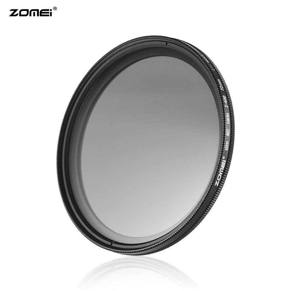 ZOMEI 72mm Ultra Slim Variable Fader ND2-400 Neutral Density ND Filter Adjustable ND2 ND4 ND8 ND16 ND32 to ND400 for Canon 7D 60D 70D 500D for Nikon D7000 D600 D300 D800 D7100 for Sony A77 NEX 5 DSLR Cameras