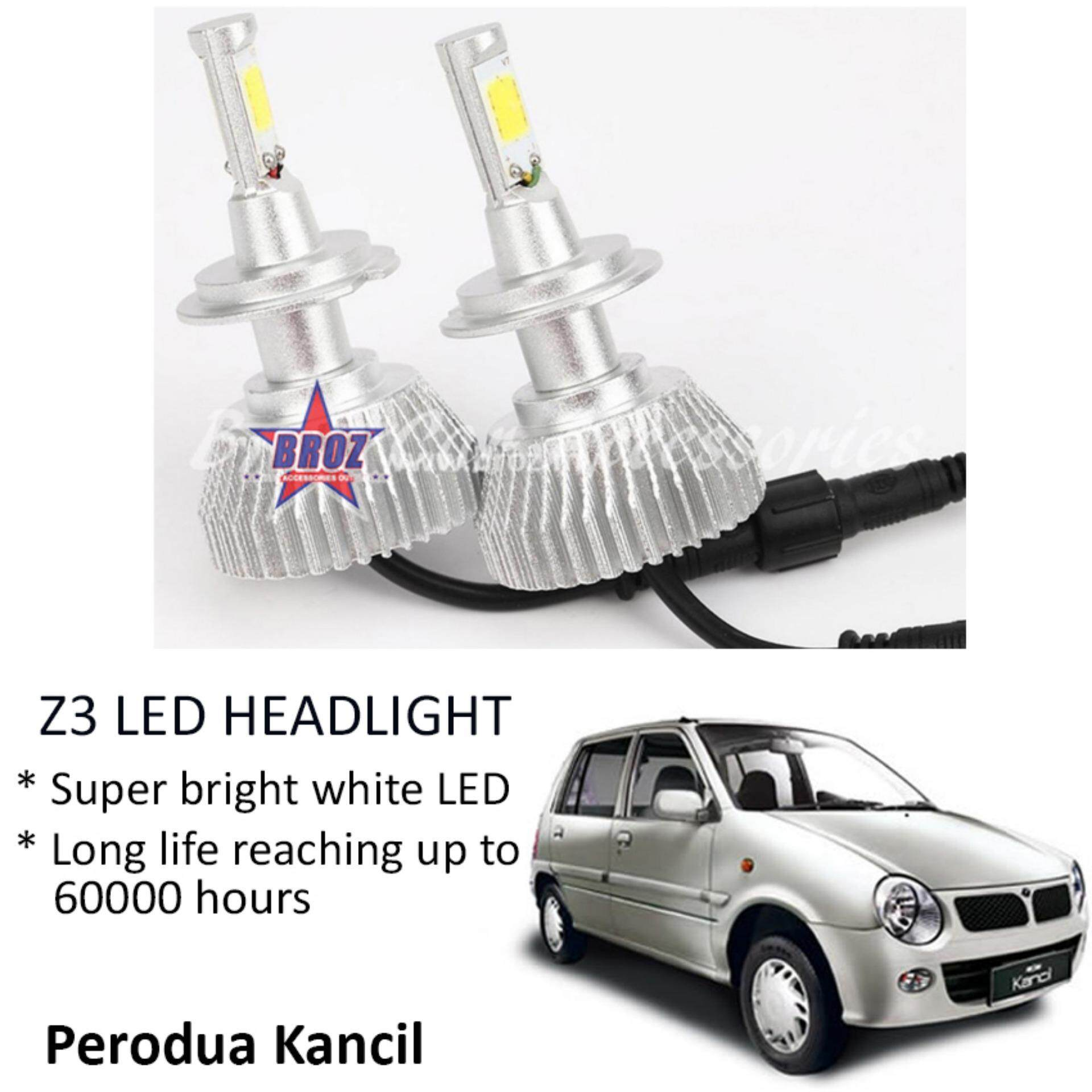 Perodua Kancil (Head Lamp) Z3 LED Light Car Headlight Auto Head light Lamp 6000k White Light