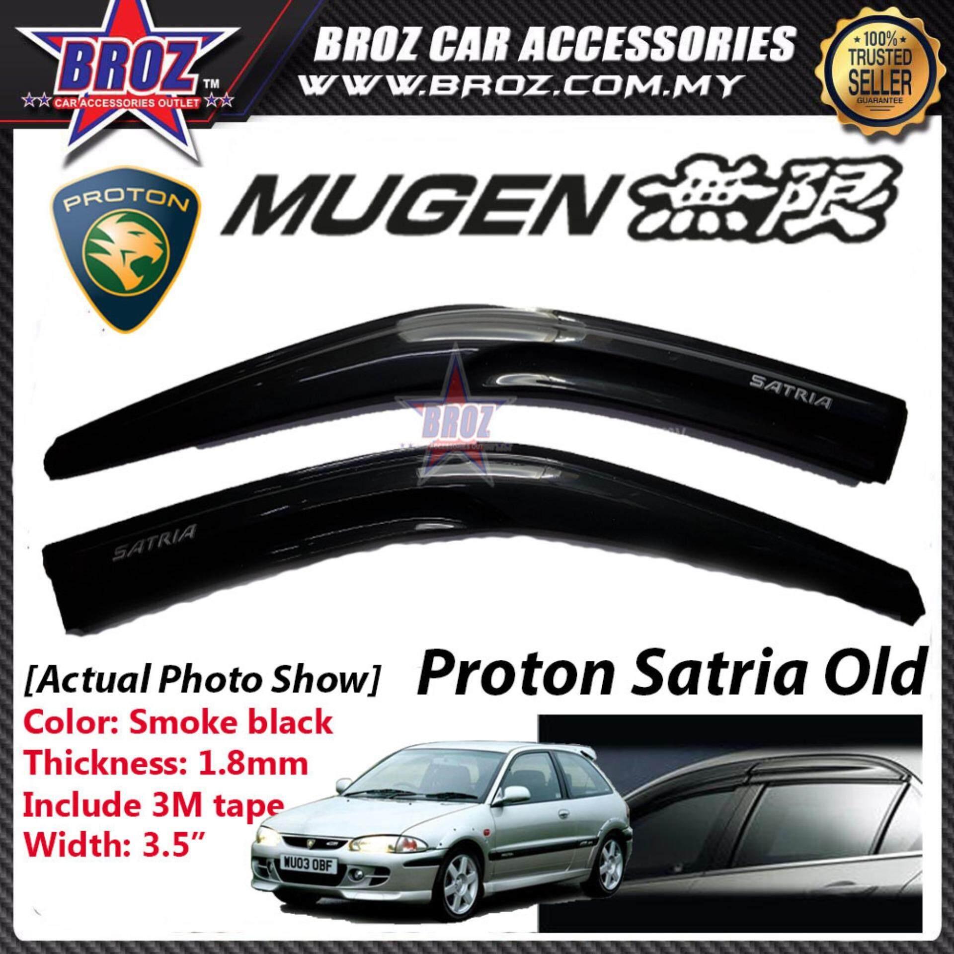 Broz Air Press Window Mugen Style Acrylic Door Visor Wind Deflector 9CM For Proton Satria  (2PCS/SET)