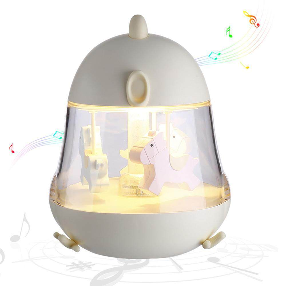 Niceeshop Carousel Music Box, Touch Sensor Led Night Lights Party Decor Lamp 7 Color Change Lamp For Kids, Baby,valentines, Birthday, Wedding & Christmas Gift By Nicee Shop.
