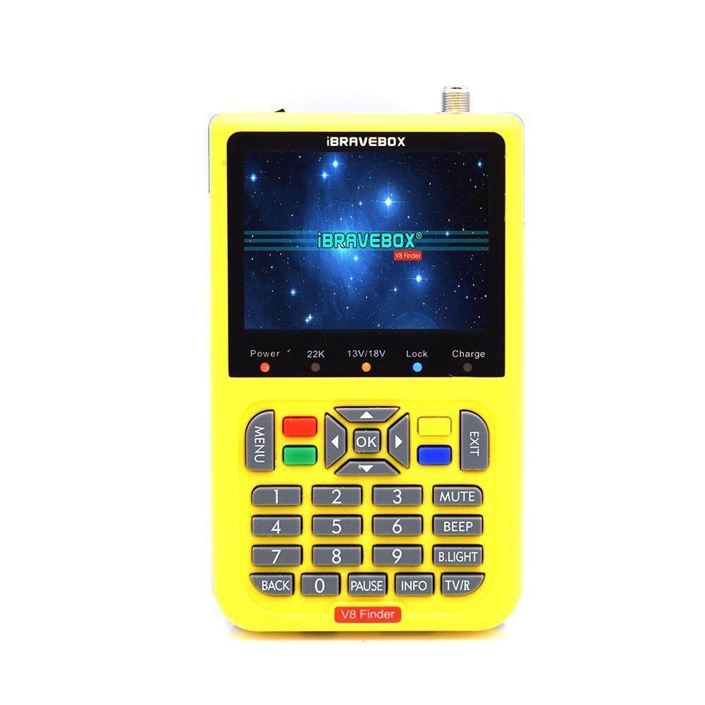 Aolvo Ibravebox V8 Penemu Sinyal TV Penemu Satelit Satlink Finder Meter DVB-S/S2