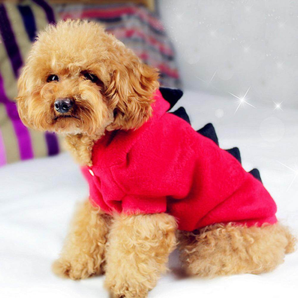 Fashion Pet Dogs Puppy Cat Dinosaur Pretty Hoodie Dress Up Clothes Apparel Lovely Coat Jacket[
