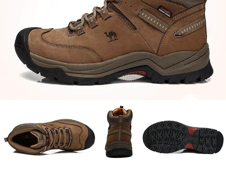 Specifications of CAMEL Men Waterproof Hiking Climbing Shoes Suede Boots Thermal Winter Outdoor Mountain Sneakers High Sports Shoes(Brown)