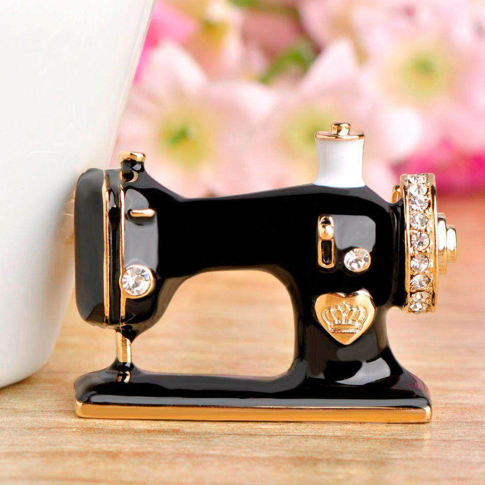 Sewing Machine Shape Brooch Vintage Wedding Clothing Accessory Women Brooches Unique Hijab Pins - intl