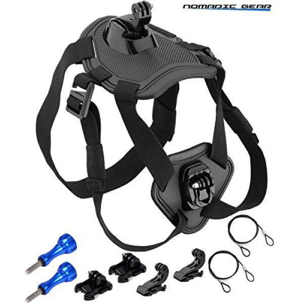 Nomadic Gear Dog Harness Chest Mount for GoPro, Garmin, Ricoh Action Cam, SJCAM, AKASO, Vtin, Cymas, Apeman, Lightdow, ODRVM, Vtin, Pictek, GT Road, Campark, SOOCOO Action Camera - intl