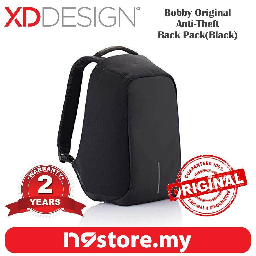 XD Design Bobby Original Black Anti-Theft Cutproof Backpack