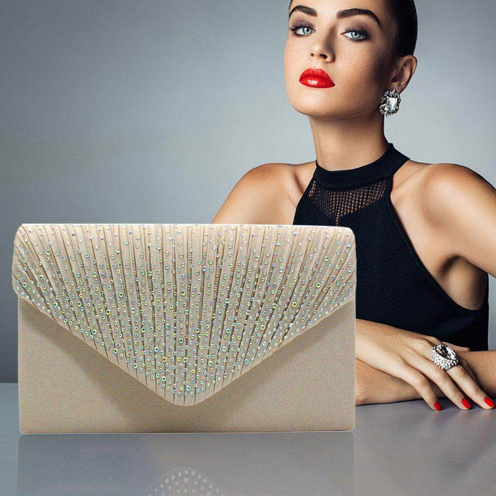 Women Clutch Bag Party Night Club Evening Bag Charms Solid Color Female Bag - Intl By Yacgroup.