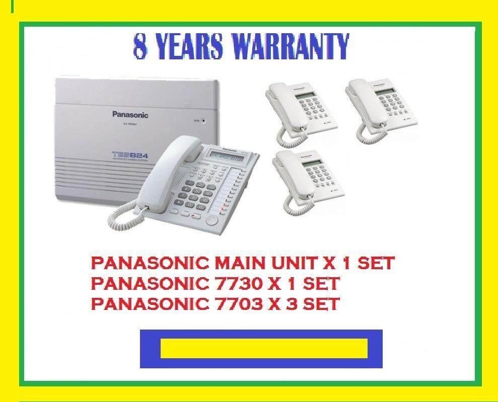 PANASONIC 824 MAIN KEYPHONE SYSTEM (1+3) - 8 YEARS WARRANTY
