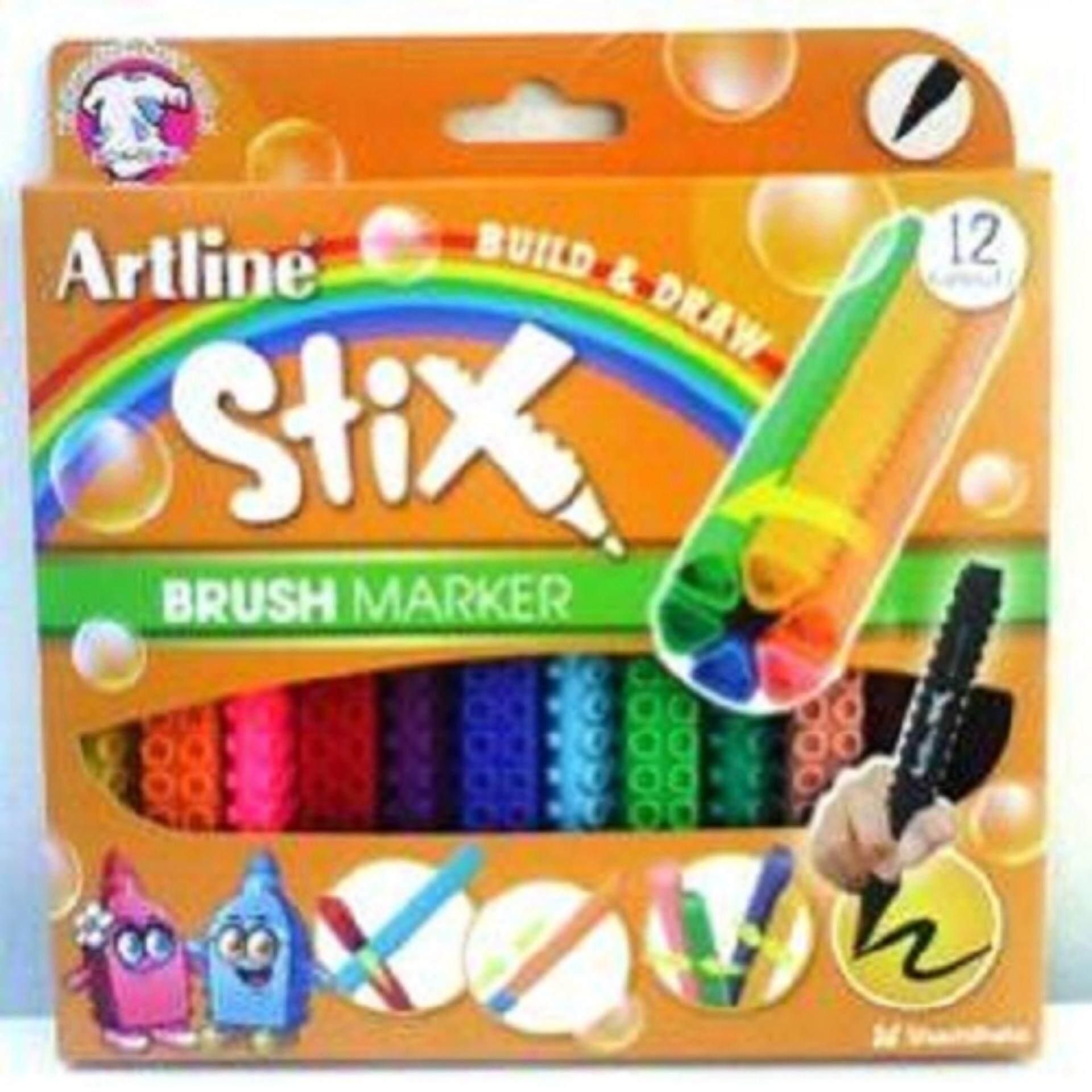 ARTLINE ETX-F STIX 12 BRUSH MARKER  ISBN: 4974052862311