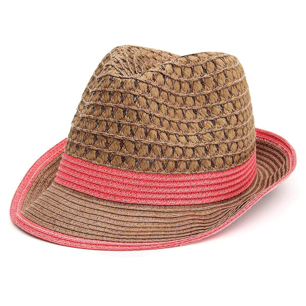 Trendi Musim Panas Topi Jerami Berongga Linen Jazz Topi Shading Matahari  Topi Pantai Penting Merah- 4c04fd3899