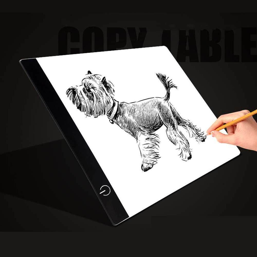 Yuero A5 LED Artist Ultra Slim Drawing Board Tracing Copy Light Box Pad Acrylic surface USB Art Facsimile Drawing Board Copy Pad Drawing Tablet Black