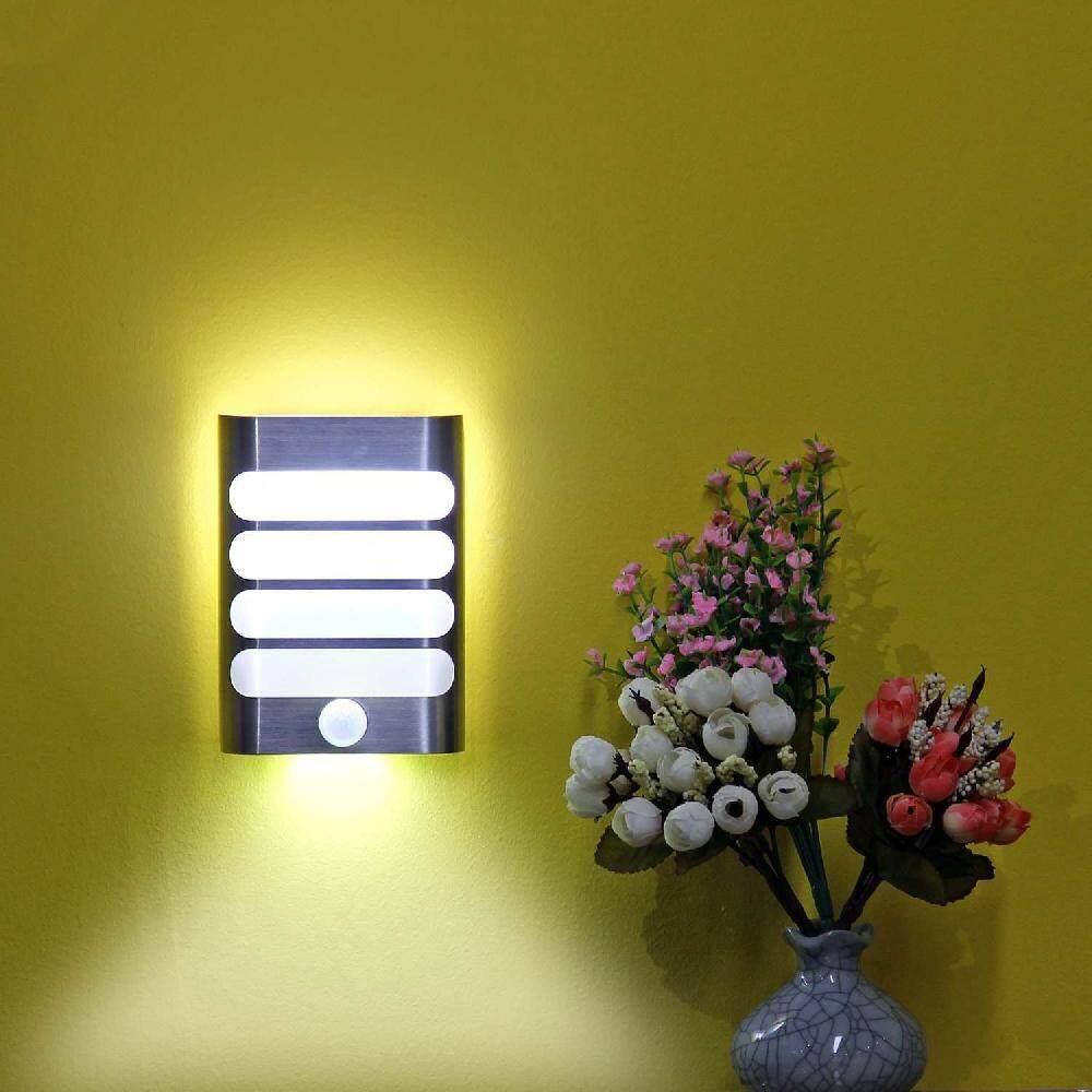 LED Wall Sconce Lofter Rechargeable Aluminum Alloy Motion Sensor Activated Night Light Stick-Anywhere, Auto On/Off Wall Lamps - intl Singapore