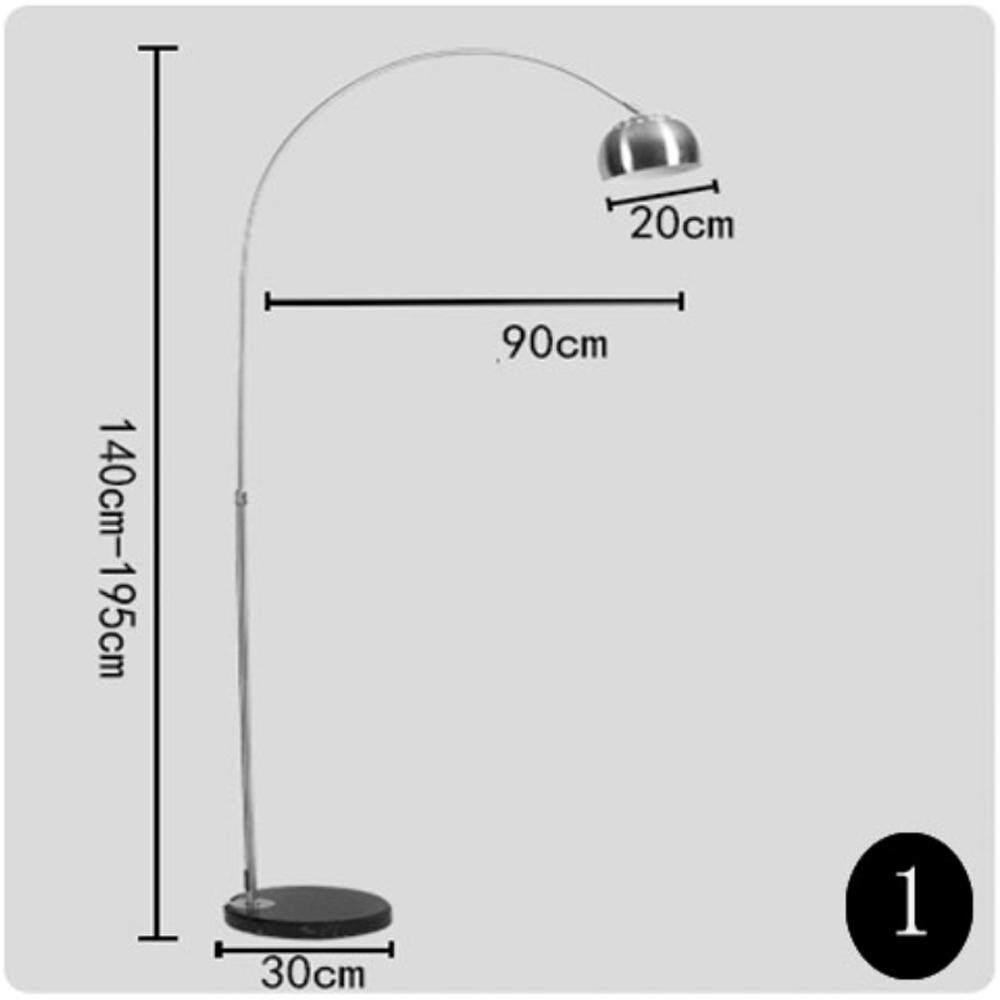 Modern Fishing Floor Lamps LED Residential Lighting Marble 110v-220v Decorative Floor Lamp E27 Foot Switch - intl