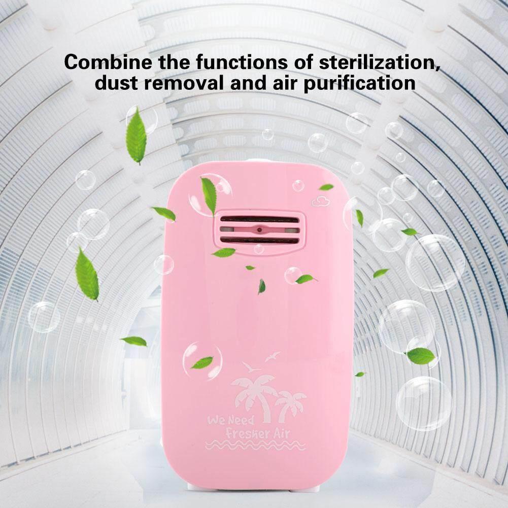 Hình ảnh Portable Air Purifier Negative Ion Generator Sterilization Disinfection Device (Pink UK Plug)