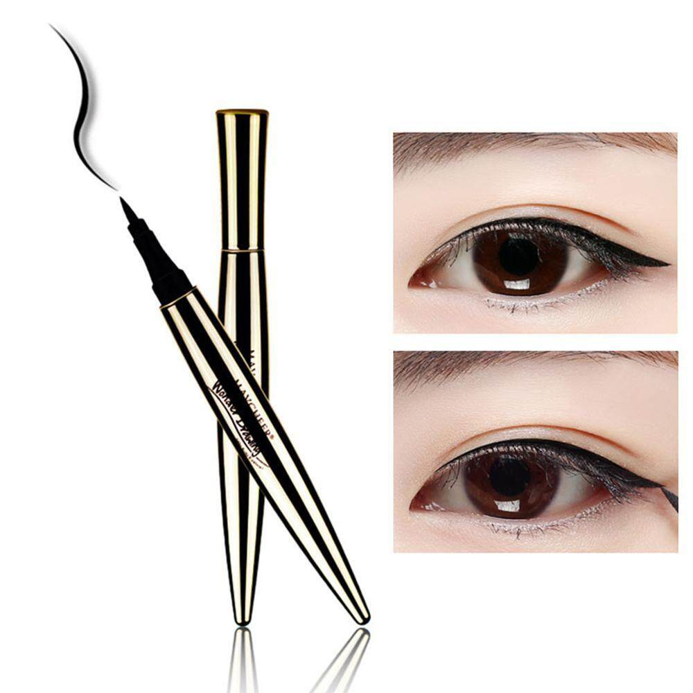 Aolvo Liquid Eyeliner Pen,Waterproof Smudge-proof Long-lasting Super Slim Black Eyeliner Pencile Cat Eyes Makeup Tool Cosmetics Philippines