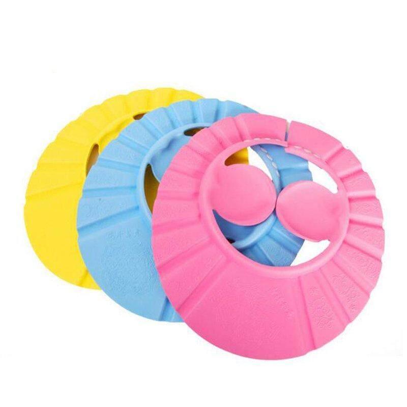 Jayoyi Adjustable Bayi Balita Kesehatan Mandi Topi Anti Air Penutup Saat Mandi Topi .