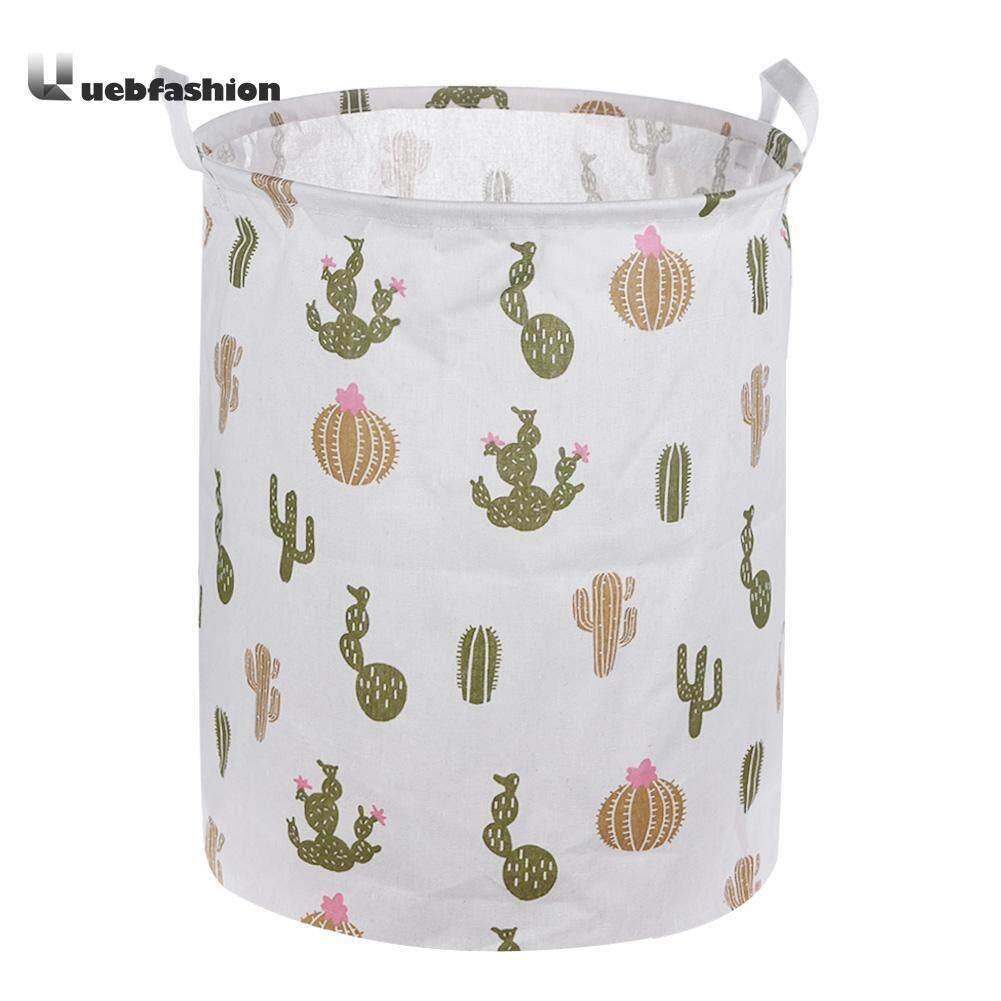 Waterproof Canvas Storage Bucket Folding Cartoon Animal Storage Box Article