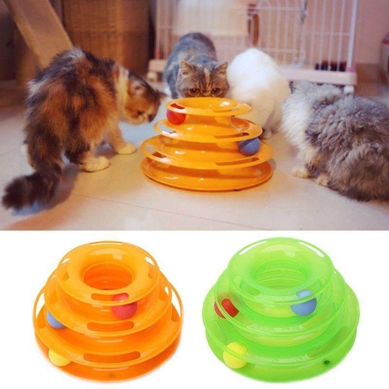 Kucing Peliharaan Lucu Gila Piringan Bola Mainan Interaktif Hiburan Plate Mainan Trilaminar-Intl