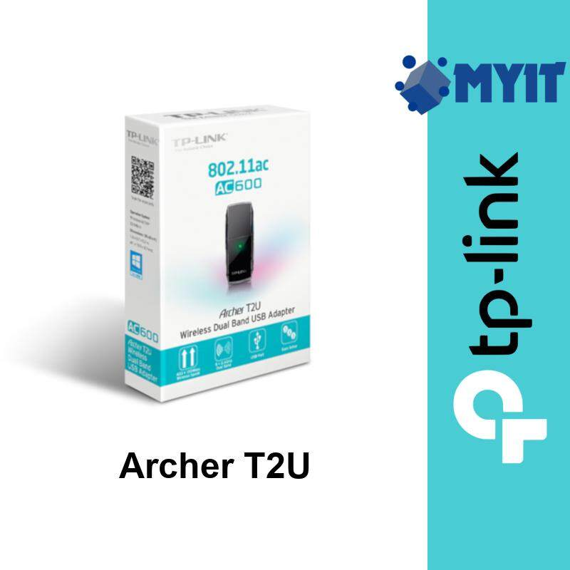 TP-Link Archer T2U AC600 600Mbps Wireless WiFi Dual Band 5GHz 2.4GHz USB Adapter Dongle