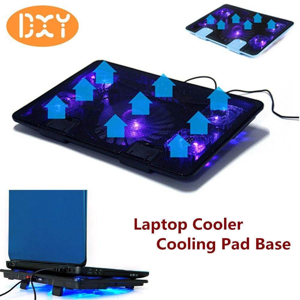 DXY-5 Fan 2 USB PC 10-17 Laptop Cooler Cooling Pad Base LED Notebook Cooler Computer USB Fan Stand Malaysia