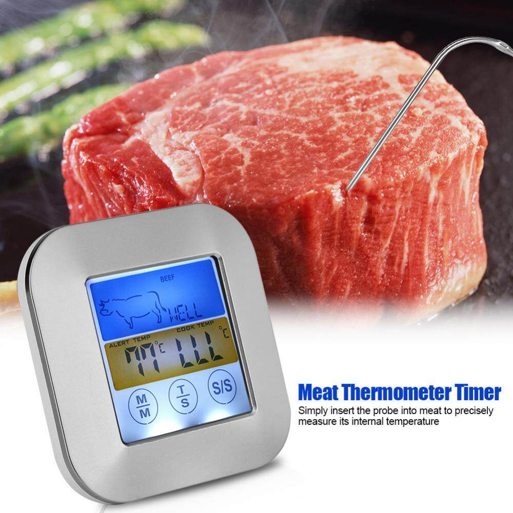 Buy Sell Cheapest Digital Termometer Bbq Best Quality Product Makanan Food Cooking Thermometer Alat Ukur Suhu Masakan Minuman Air Obat Kopi Susu Layar Sentuh Daging Waktu Dan Peringatan Untuk Dapur Memasak Barbeque Grill