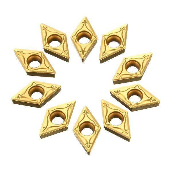 10 Chiếc Lưỡi Dao Chèn Cacbua DCMT 070202 Có Thể Lập Chỉ Mục Bằng Vàng Đối Với Bán Hoàn Thiện Bằng Thép-