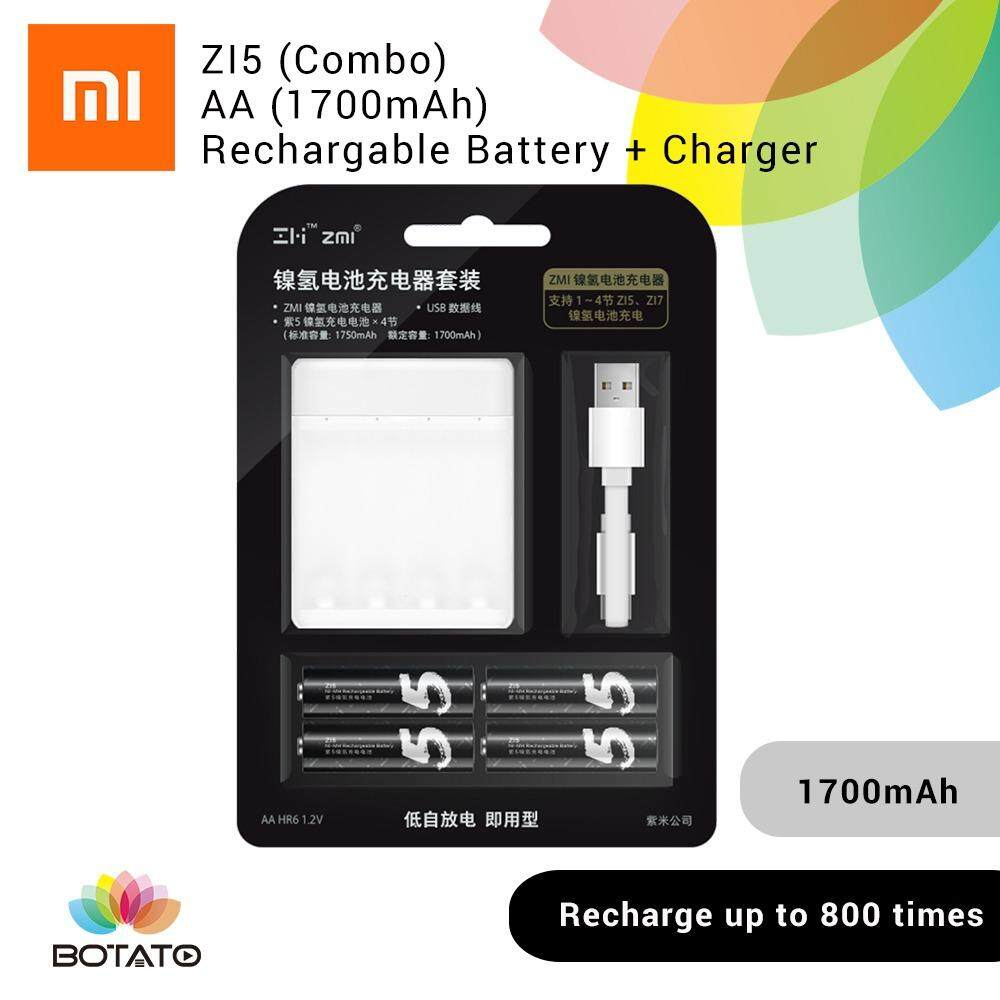 [[MI Rechargeable AA Battery with charger]] Rechargeable battery Battery charger [[Botato Electronic]]