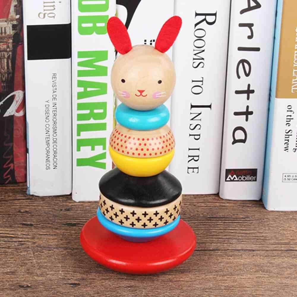 Buy Sell Cheapest Enlighten Menara Pelangi Best Quality Product Donat Jayoyi Bayi Belajar Mainan Edukatif Kayu Tumbler Kelinci Bentuk Geometris Blok Tiang