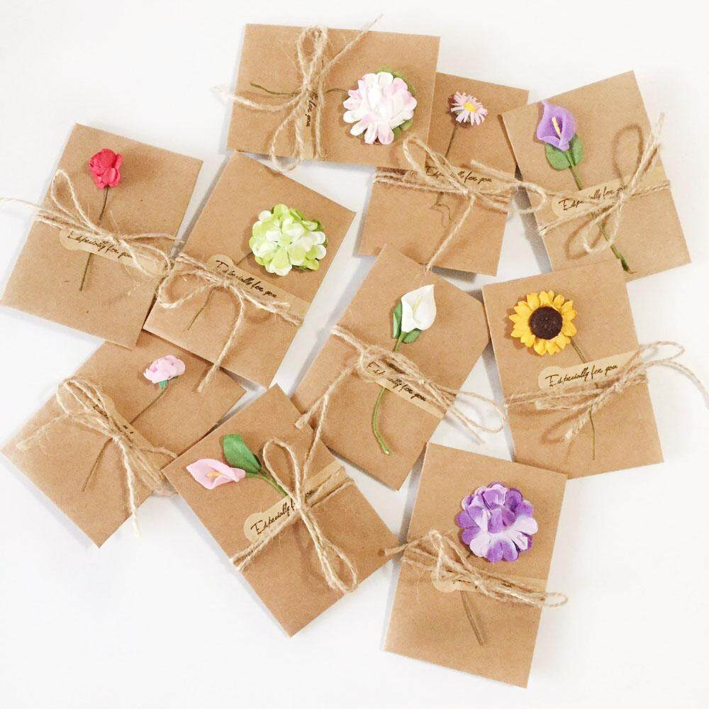 Cards & Invitations Strict 50pcs 4.5*4cm Diy Tag Price Label Party Favor Heart Shape Kraft Paper Card Wedding Favour Gift Tag