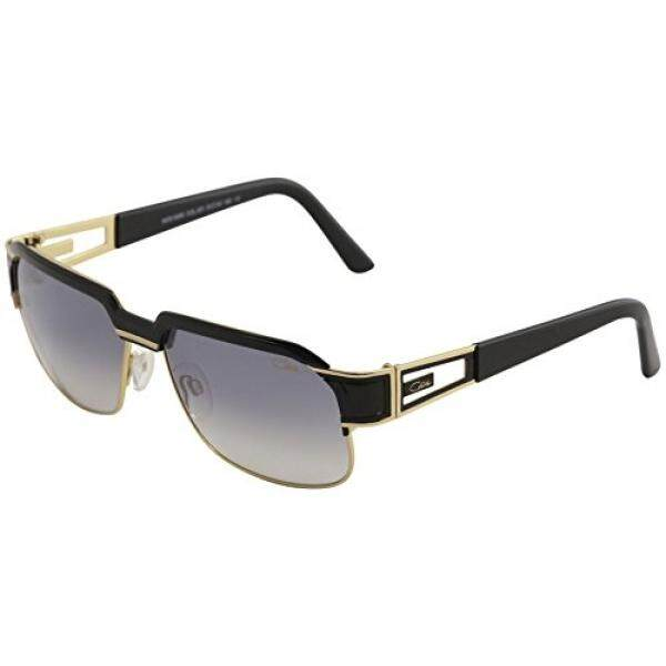 09037dfec91 Cazal Legends Mens 9068 001SG Black Gold Fashion Square Sunglasses 61mm -  intl