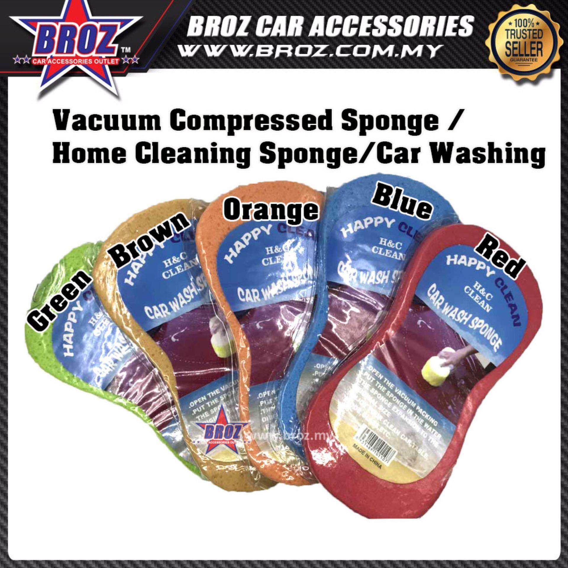 3 x Vaccum Compressed Sponge/Home Cleaning Sponge/Car Washing (Green)