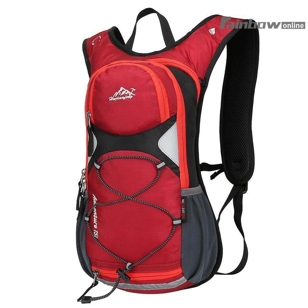 Hình ảnh 15L Nylon Waterproof Travel Mountain Bike Breathable Cycling Reflective Backpack - intl