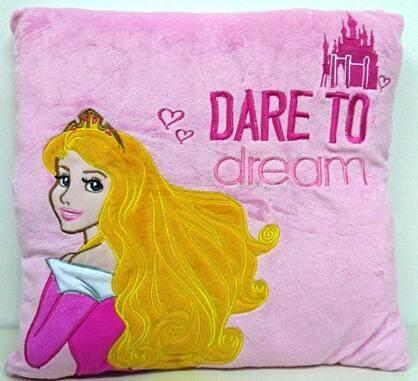 Disney Princess Square Cushion- Pink