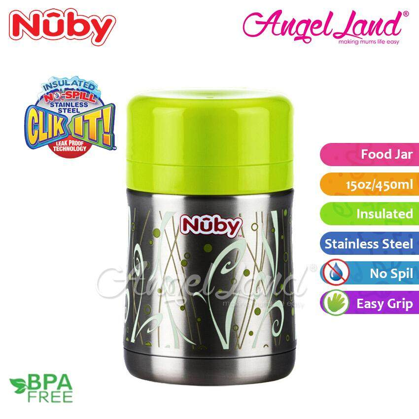 Nuby Stainless Steel Food Jar 15oz/450ml NB5470