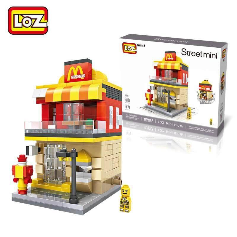 LOZ DIY Mini Street Fast Food Nanoblock Puzzle