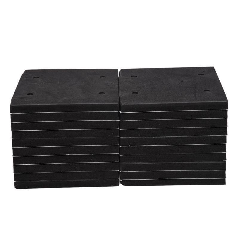 20 Pcs Square Foam Replacement Sander Back Pad Sanding Mat Black