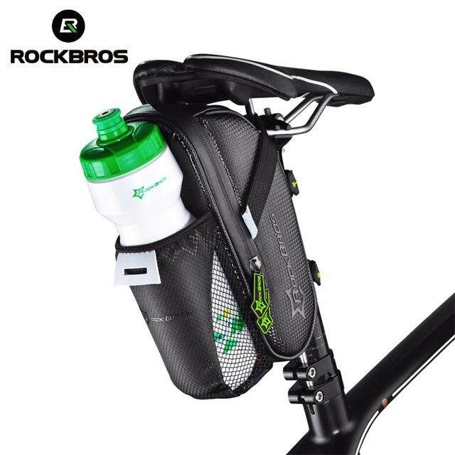 Rockbros Rainproof Bike Bicycle Rear Bag With Water Bottle Pocket Bicycle Tail Bag Saddle Bag Reflective Pouch Bike Accessories By Linkcool.