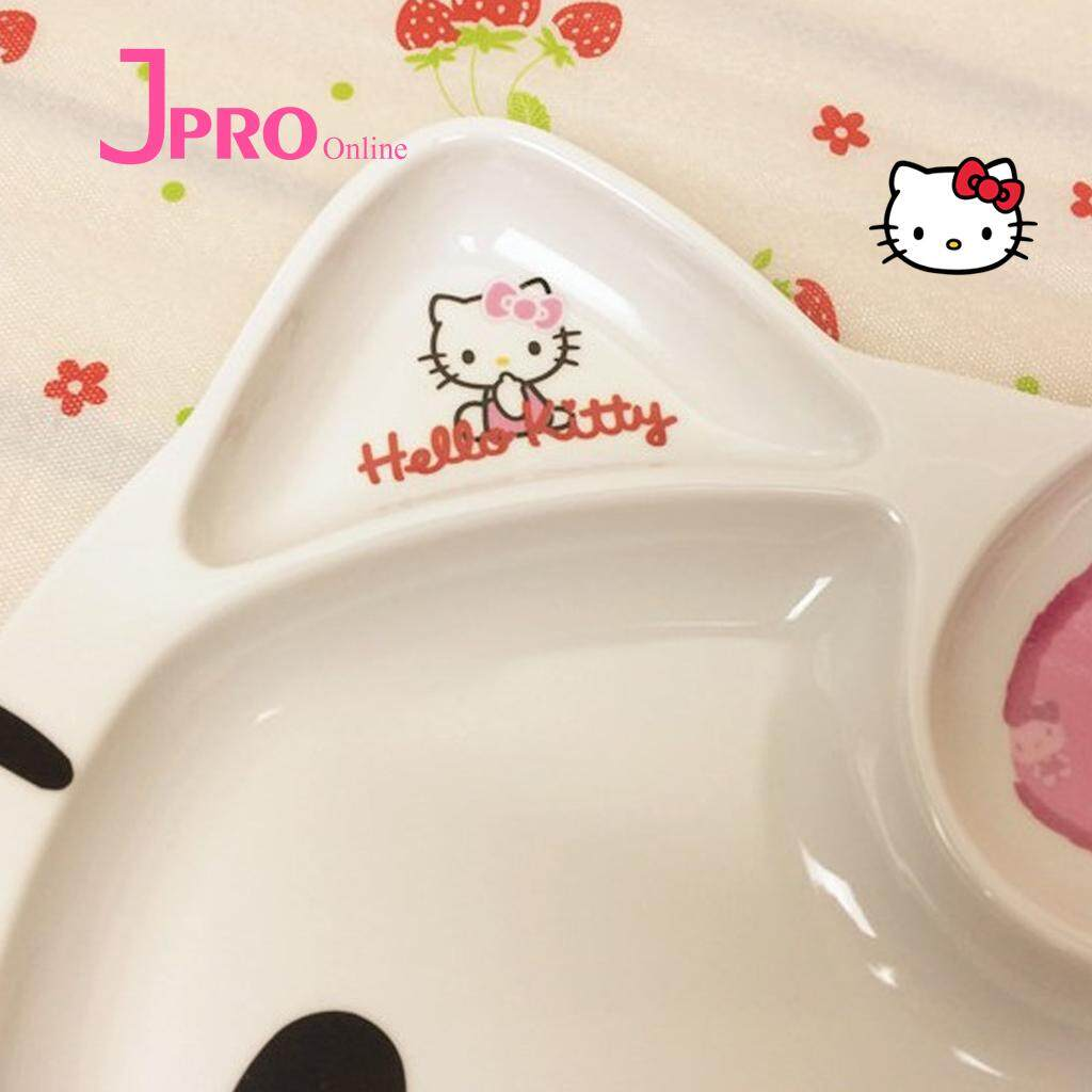b0441b64b Cute 1Pcs Hello Kitty KT Cat Cartoon Exquisite Safety Dinner Tableware Plate
