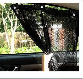 1 PAIR CAR HAVELOCK WINDOW CURTAIN (BLACK)