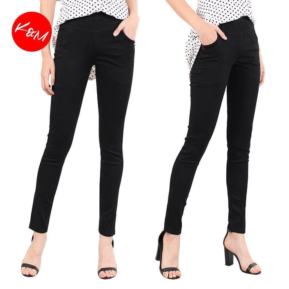 KM Women Big Size Black Pants [M10966]