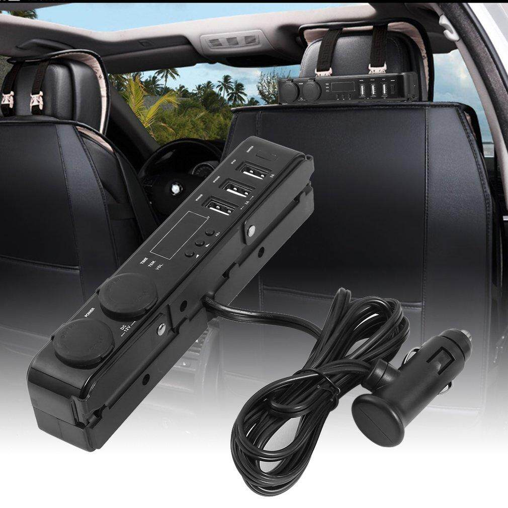 Neve Car Back Seat Headrest Mount 3 Port 5v 3a Usb Charger - Intl By Neveriss.
