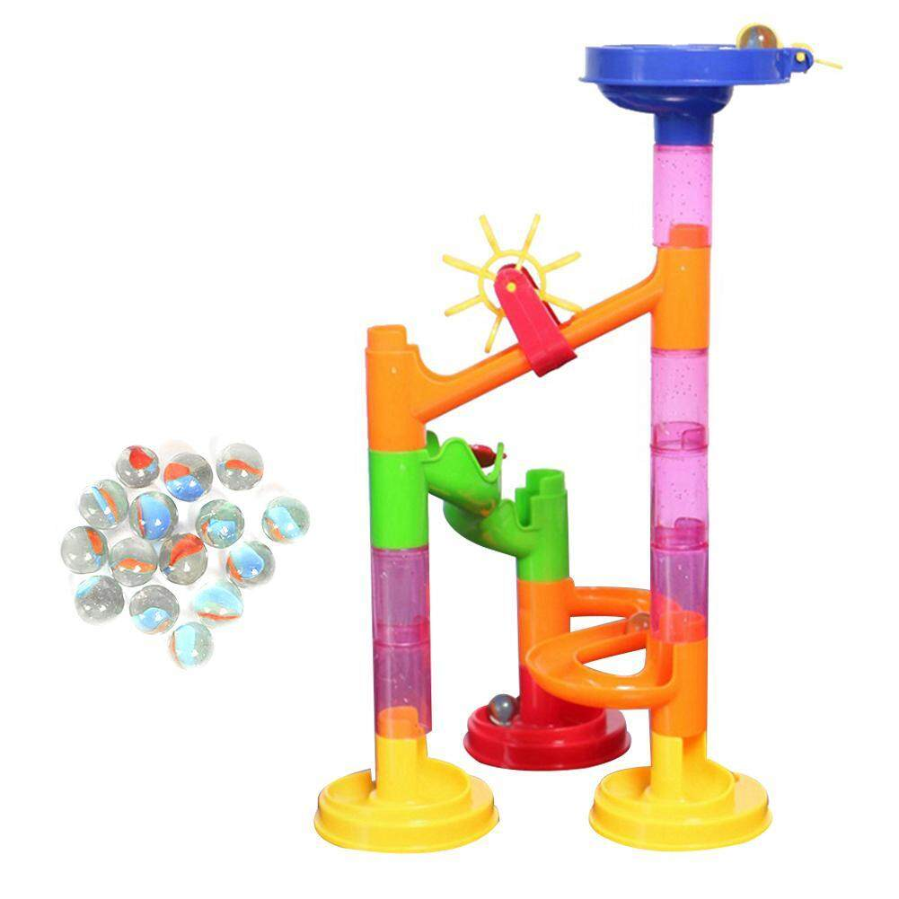 Hình ảnh 29pcs/Set DIY Construction Race Run Maze Balls Track Building Block Educational Children Gift Toy - intl