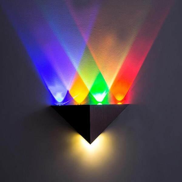 wall lamp 5W Led triangle colorful lantern corridor light sconces wall lighting decoration