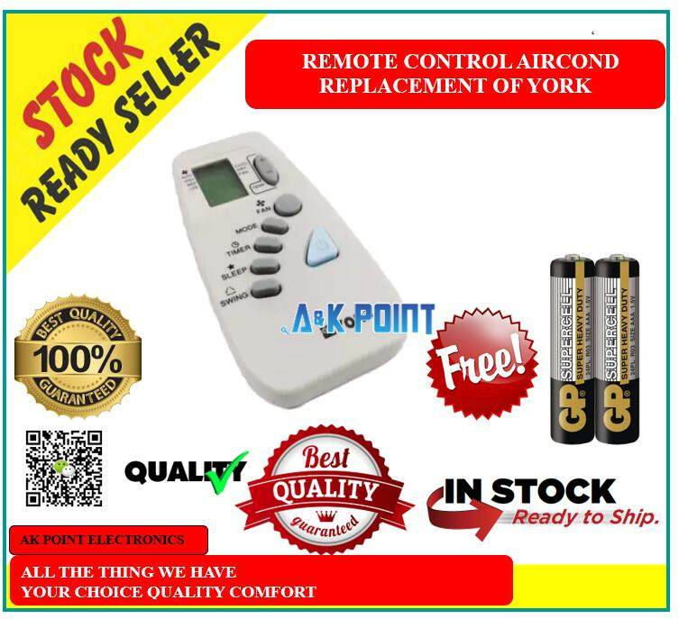 AIRCOND REMOTE CONTROL FOR REPLACEMENT FOR YORK