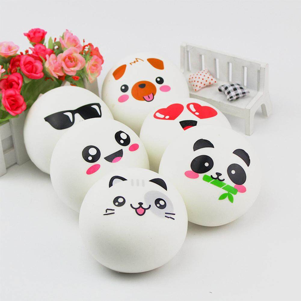 Lucky-G Cute PU Simulation Panda Expression Stuffed Buns Steamed Bread Toy Slow Rising Squishy