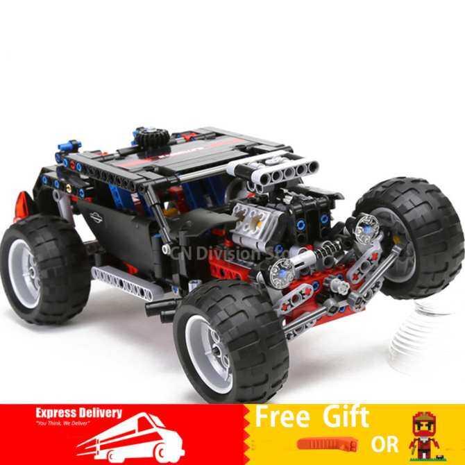 Decool 3340 Model building kits city hummer car super jeep 3D blocks Educational toys hobbies - intl